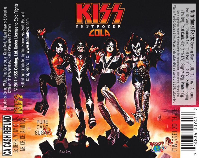 Kiss are releasing their own brand of cola