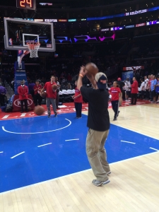 <p>Here is Rocket Fizz Co-founder Ryan shooting hoops at the Staples Center. Too bad Michael Jordan didn't show up for a one-on-one match.</p>
