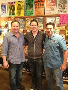 <p>World famous magician Andrew Mayne, star of the A&E TV show Don't Trust Andrew Mayne, visiting Rocket Fizz in Sherman Oaks, California. He is with Rocket Fizz co-founders Rob and Ryan.</p>