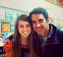 <p>Danny Castellano of The Mindy Project visiting Rocket Fizz.</p>