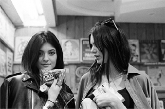<p>Kendall and Kylie Jenner having fun at Rocket Fizz Westwood.</p>