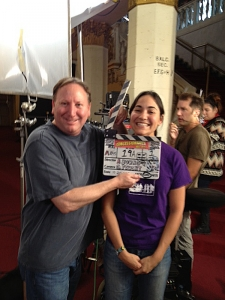 "<p>Rocket Rob and film director America Young on the set of America's produced and directed film ""The Concessionaire's Must Die!"" It's about a group of superhero fans taking over a small town movie theater. Rocket Fizz will be involved in promoting this film.</p>"