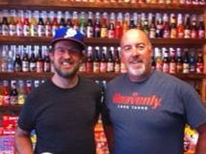 <p>Page McConnell from the band Phish stopped by Rocket Fizz in South Lake Tahoe before their show (2013-07-30).</p>