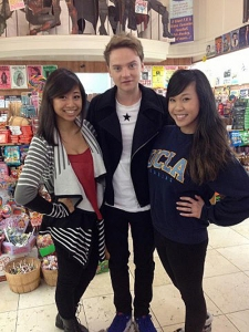 <p>British pop star Conor Maynard after shooting a video at Rocket Fizz Westwood.</p>