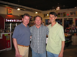 <p>Childhood friends Ross, Robert, and Rich at Rocket Fizz in Camarillo, CA</p>