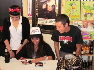 "<p>Snooki signed autographs for hundreds of her fans. ""It was unbelievable"" Rob said. ""She was so nice to every person and no one left without an autograph. She has tons of energy.""</p>"