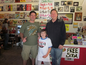 <p>'Zeke' of the NBC TV Show 'The Paul Reiser Show' visiting with Rocket Rob and Rocket Ryan at Rocket Fizz in Camarillo, CA.</p>