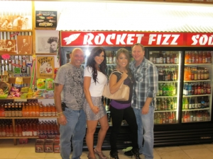 <p>Andy Polizzi (Snooki's Dad), Marlo J., Cara Castronuova (2 time boxing gold glove champion and trainer for the TV show 'The Biggest Loser'), and Rocket Rob.</p>