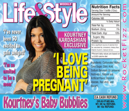 <p>Congratulations to Kourtney and the entire Kardashian and Jenner families for their newest family member! Kourtney's Baby Bubblies specially bottled by Rocket Fizz.</p>