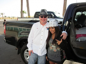<p>Rob and Snooki on their road trip</p>