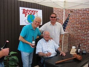 <p>Rocket Rob with his family member Judge Wapner (The very first judge to appear on national T.V.--The People's Court) and his cousin, current Superior Court Judge Fred Wapner.</p>
