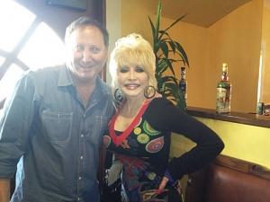 <p>Rocket Rob with Dolly Parton.</p>