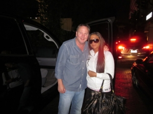 <p>Rocket Rob with Sammi 'Sweetheart' of Jersey Shore. Sammi just got out of Rob's car after Rob picked her up at the LAX airport.</p>