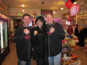 <p>Ryan, two-time world champion boxer Mia St. John, and Rob</p>