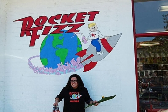 <p>Woody from the TV show 'Suite Life on Deck' at Rocket Fizz in Ventura, CA.</p>