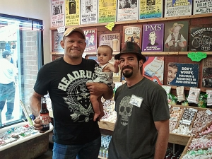 <p>UFC light heavyweight champion Chuck 'The Iceman' Liddell visiting Rocket Fizz Denver. Chuck says 'vote Rocket Fizz for President, or else!'</p>