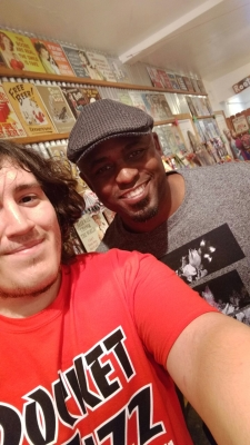 <p>Wayne Brady visiting Rocket Fizz in Sherman Oaks, CA. Here he is with Rocket Kevin... Rocket Fizz is always entertaining entertainers and we love it!</p>
