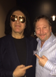 <p>Rocket Fizz co-founder Rob with the rock group KISS founder Gene Simmons.</p>