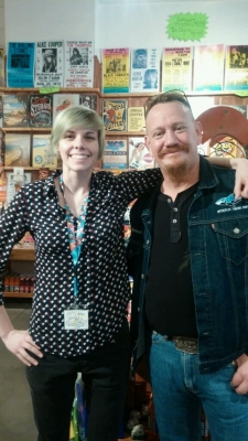 "<p>Robbie ""Redneck"" from the Animal Planet TV show Tanked.  Robbie is visiting Rocket Fizz in Austin Texas. He purchased Tanked TV show gummy sharks.</p>"
