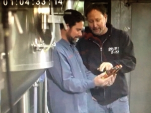 <p>Rocket Fizz founders Rob & Ryan filming another TV show at the Rocket Fizz bottling plant in Northern California.</p>