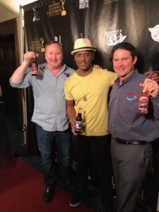 <p>Another Rocket Fizz fan. Nice guy Blair Underwood with Rocket Fizz founders Rob and Ryan.</p>