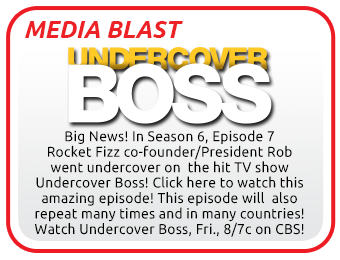 Media Blast Rocket Fizz on Undercover Boss