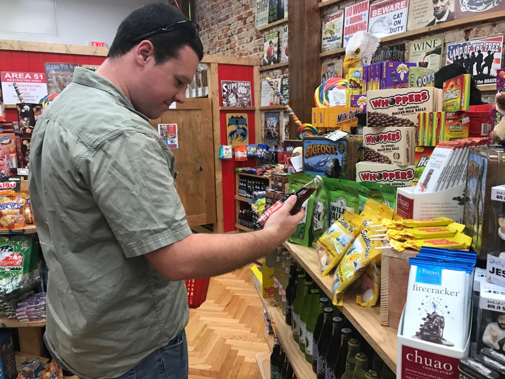 Rocket Fizz welcomes customers at grand opening with free samples and magic tricks