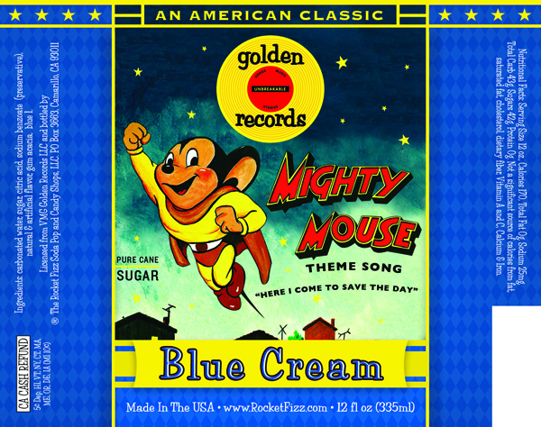 Mighty Mouse Blue Cream