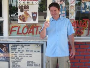 <p>Co-founder Ryan Morgan enjoying a treat</p>