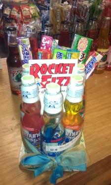 <p>Rocket Fizz gift basket, Nebraska location.</p>
