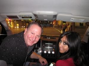 <p>Rocket Rob driving Snooki around Los Angeles one night.</p>
