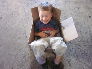 <p>Ryan's son Tyler at Rocket Fizz Camarillo</p>