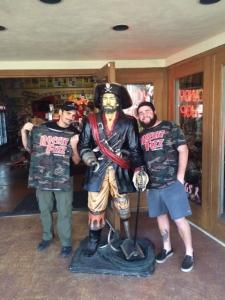 <p>Country singer Brad Paisley (left) visiting Rocket Fizz in Santa Barbara, California.</p>