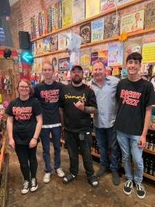 "<p>Chumlee of the hit TV show Pawn Stars was at Rocket Fizz in Ventura, California promoting his Rocket Fizz bottled Chumlee Root Beer. Rocket Fizz co-founder Rob says ""If you want a fantastic root beer you need to drink Chumlee's!""</p>"